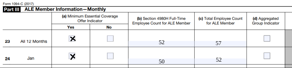 aca reporting ALE example