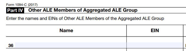 aca reporting aggregated ALE Group