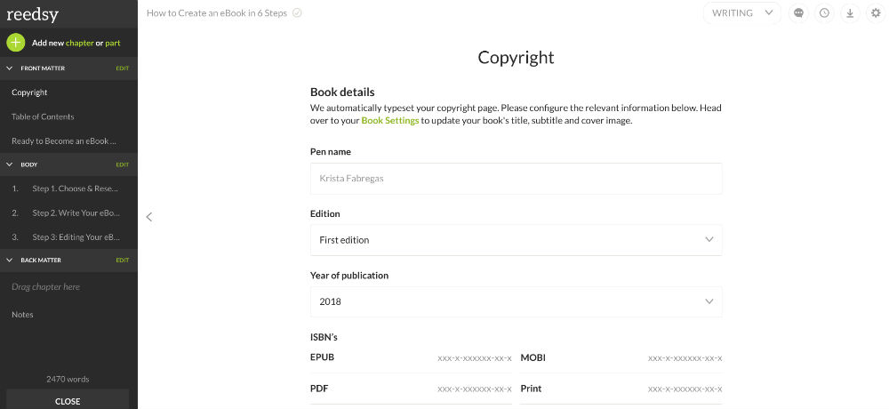 Reedsy makes it easy to format an ebook