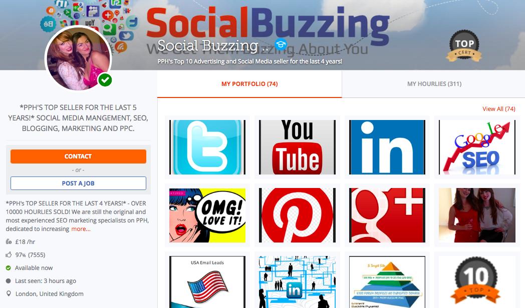 PeoplePerHour - social media consultant