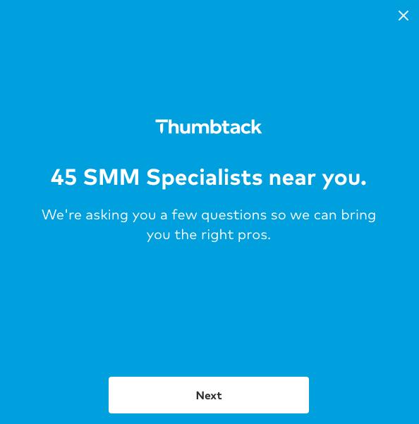 Thumbtack Starter Quiz - social media consultant