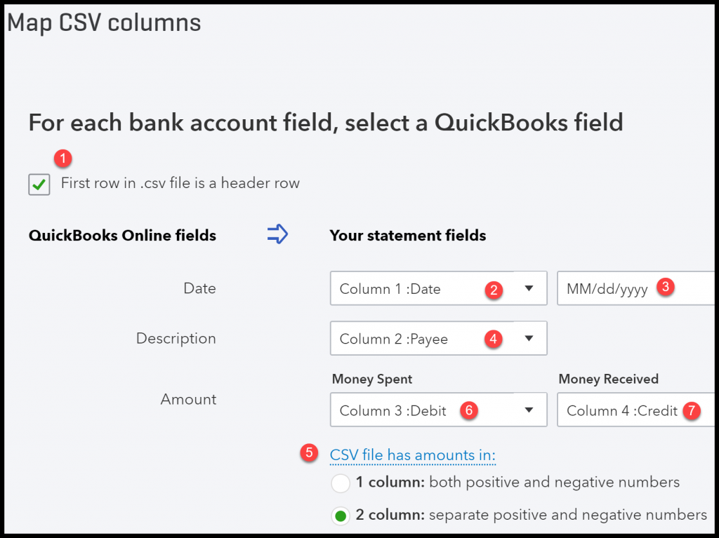 How To Import Bank Transactions Into QuickBooks Excel More - Quickbooks invoice import csv