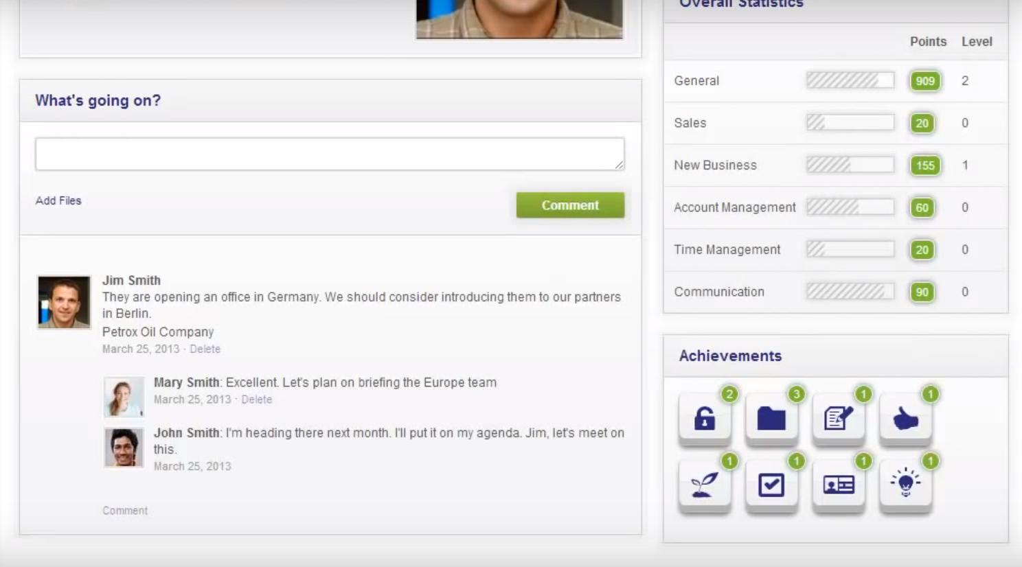 Zurmo User Scoreboard - open source crm