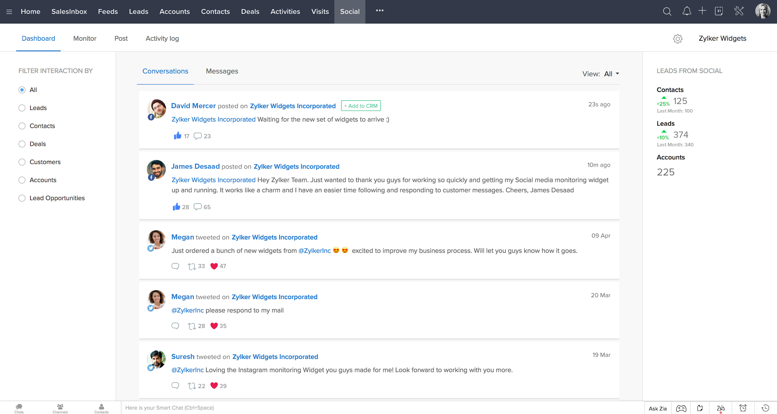 Zoho - best crm for small business