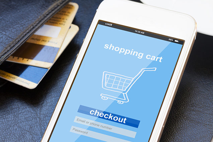 shopping card checkout in mobile