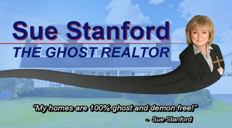 Sue Stanford, Ghost Realtor - Outrageous Real Estate Marketing Ideas