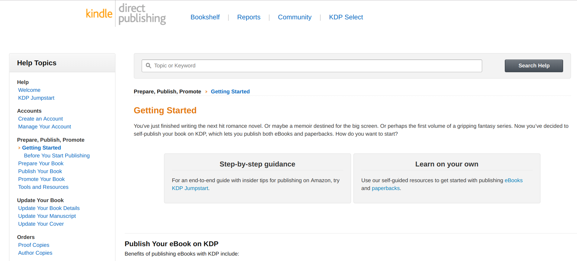 KDP - Amazon Kindle Direct Publishing - account setup