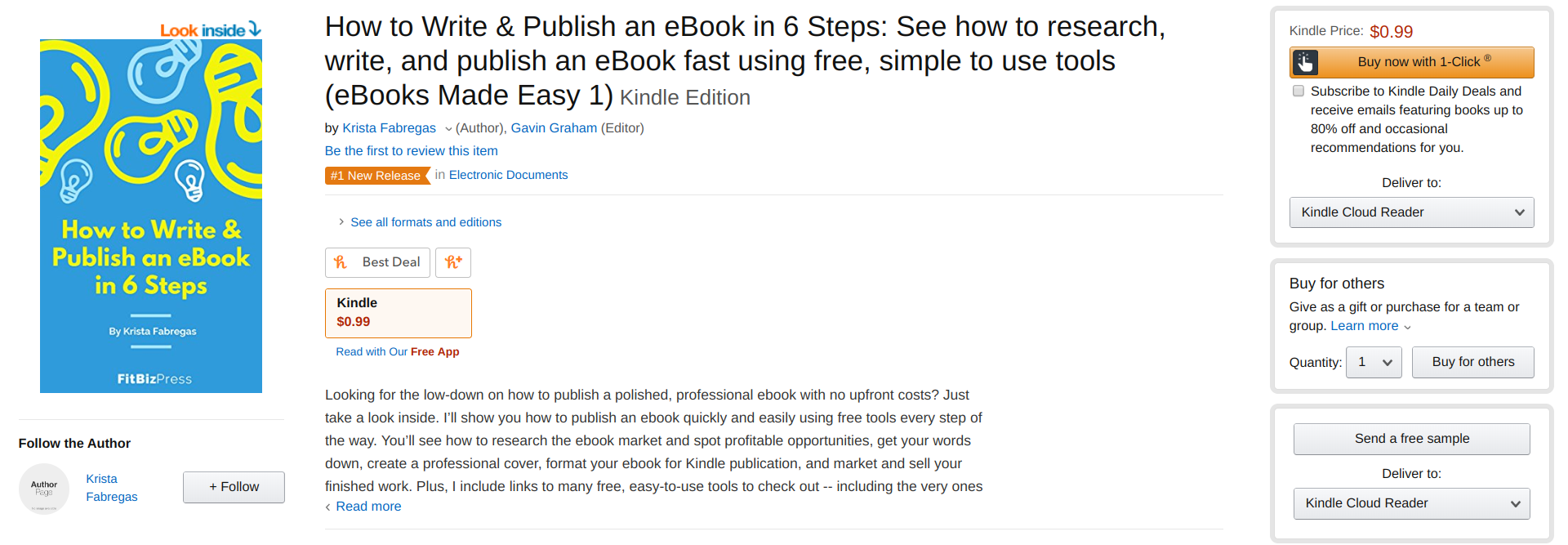 Amazon KDP - kindle direct publishing - live ebook listing