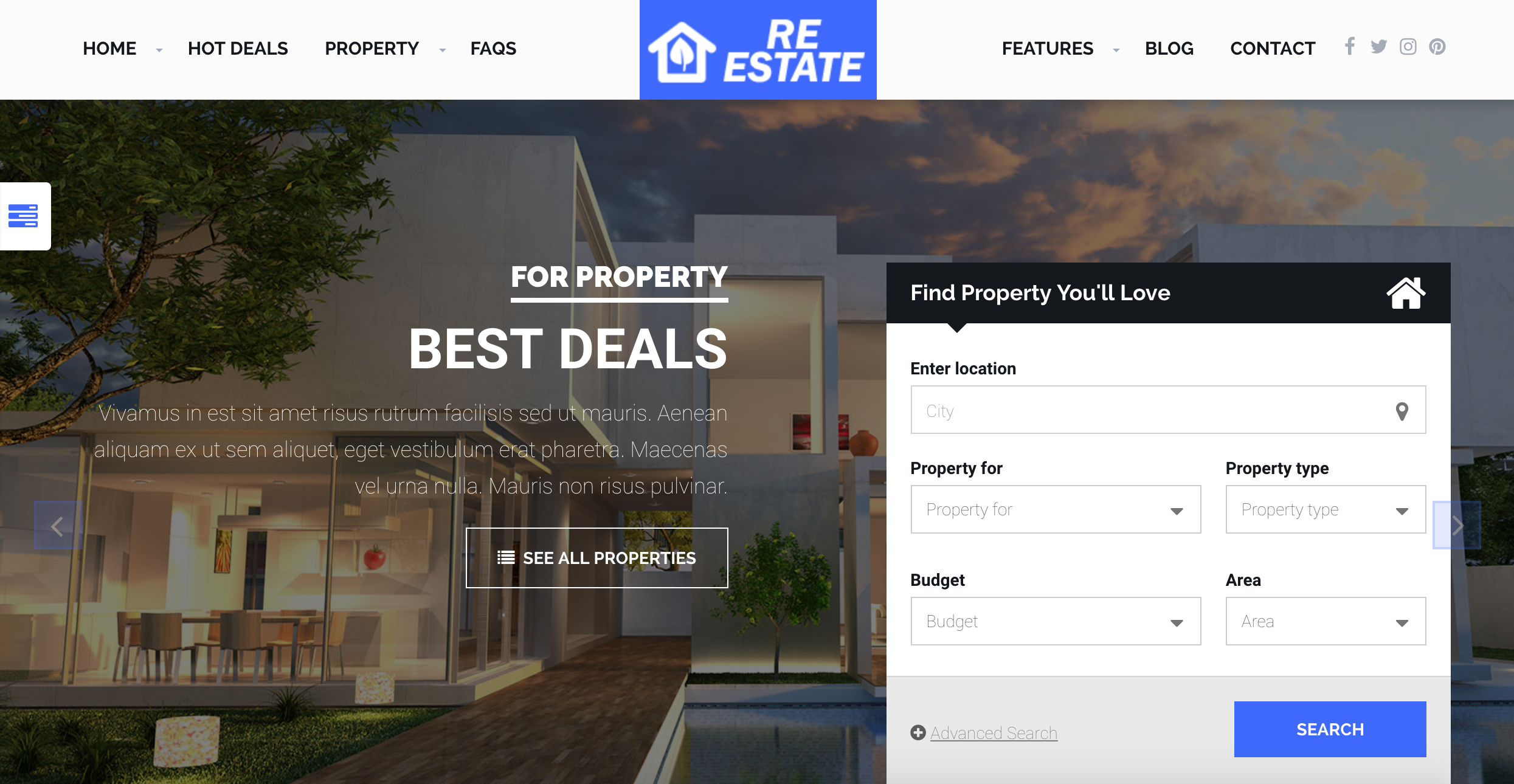 ReEstate Real Estate with MLS IDX Listing Realtor Theme - mls idx