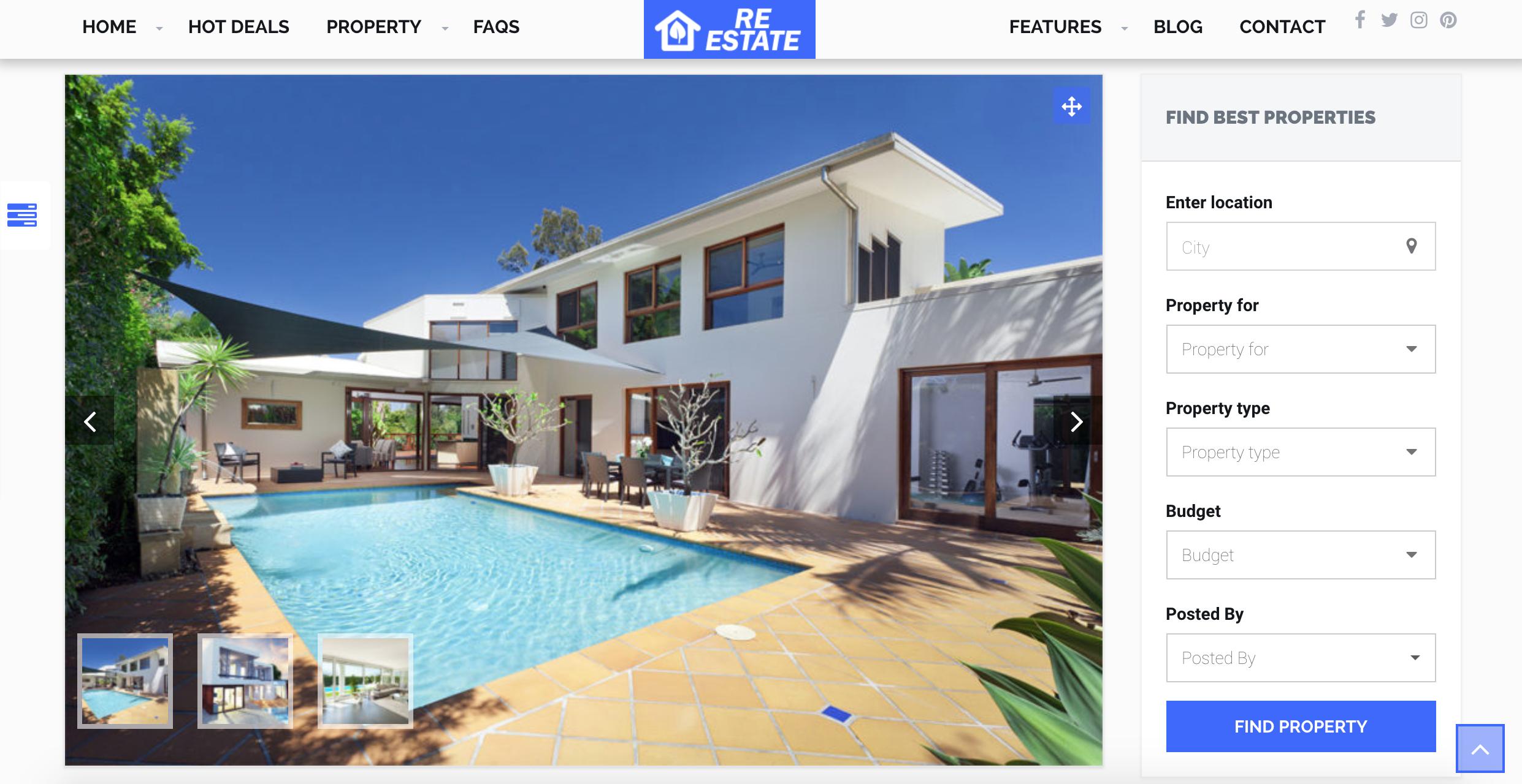 ReEstate WordPress Theme - mls idx