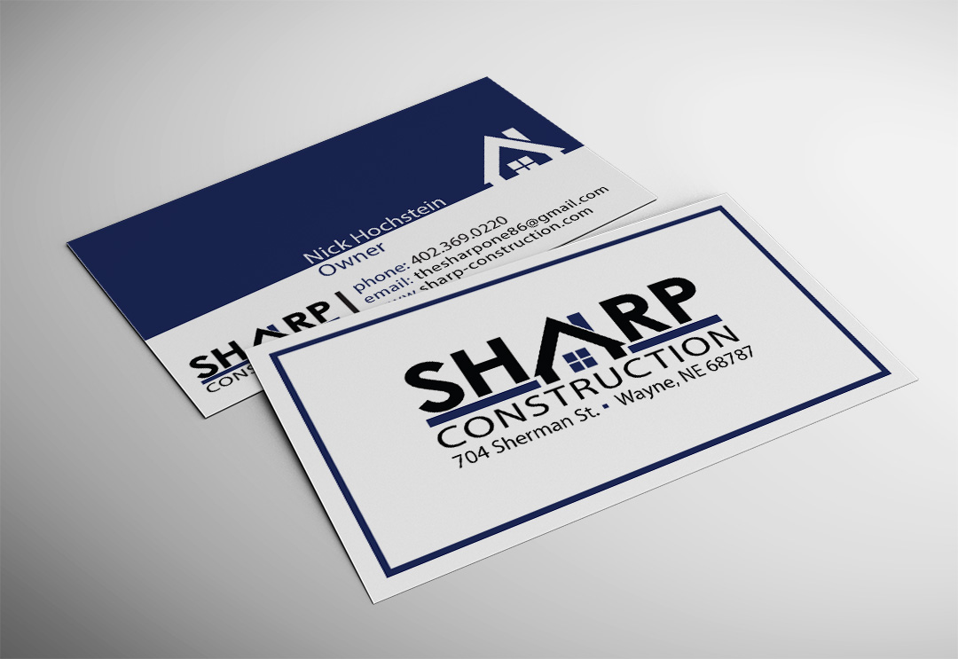Location Branding - construction business cards