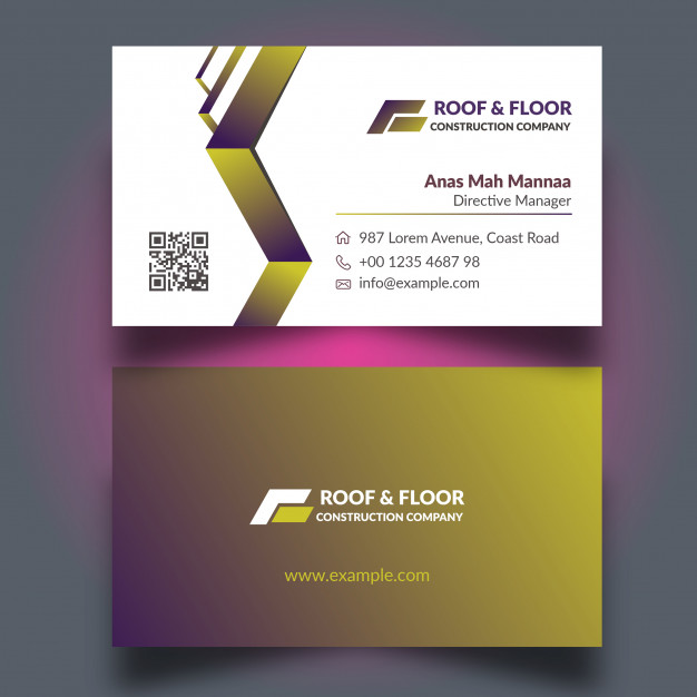 Premium Design Construction Business Cards