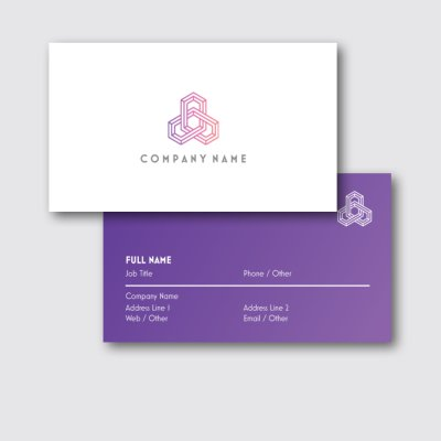 White Background with Spot UV Finish - construction business cards