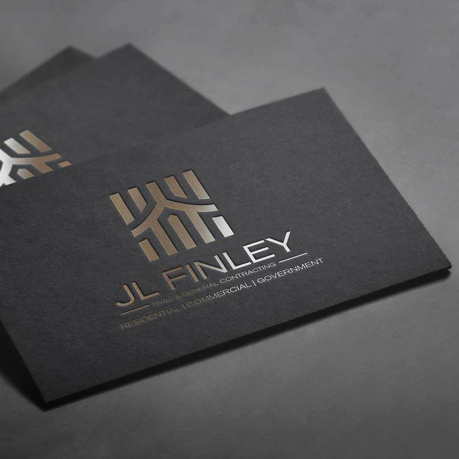 Black and Gold - construction business cards