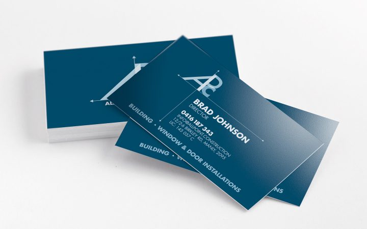 Simple and Efficient - construction business cards