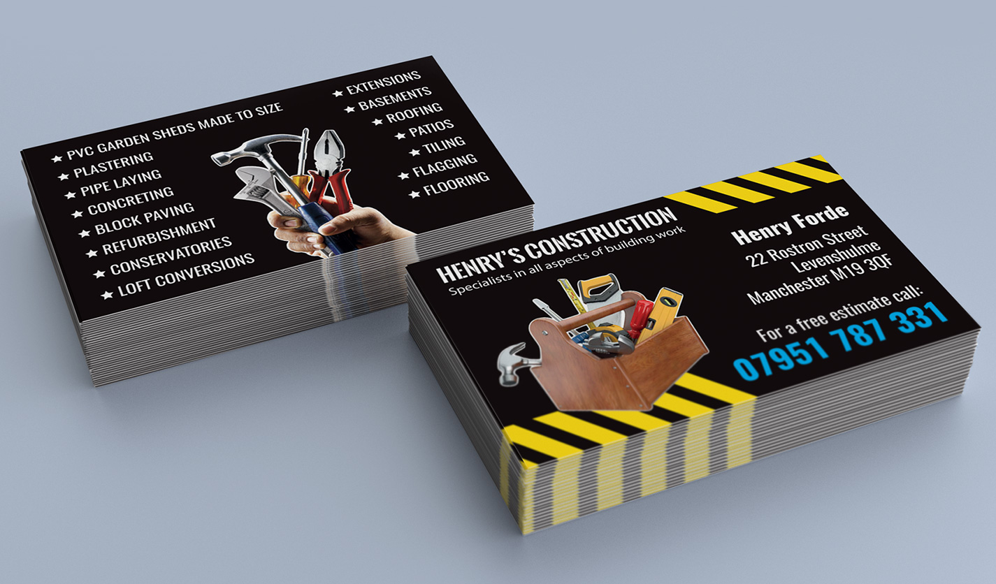 General Contractor Business Card - construction business cards