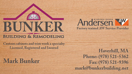 Hardwood Finish - construction business cards