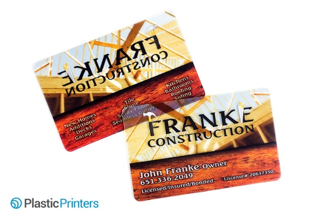 Print on Plastic - construction business cards