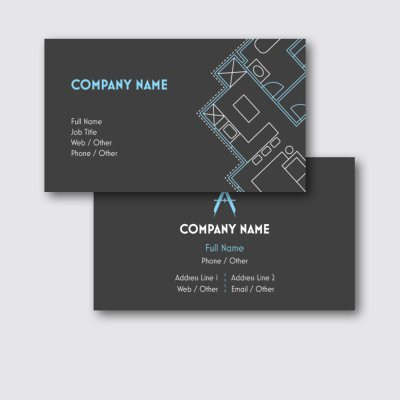Blueprint - construction business cards