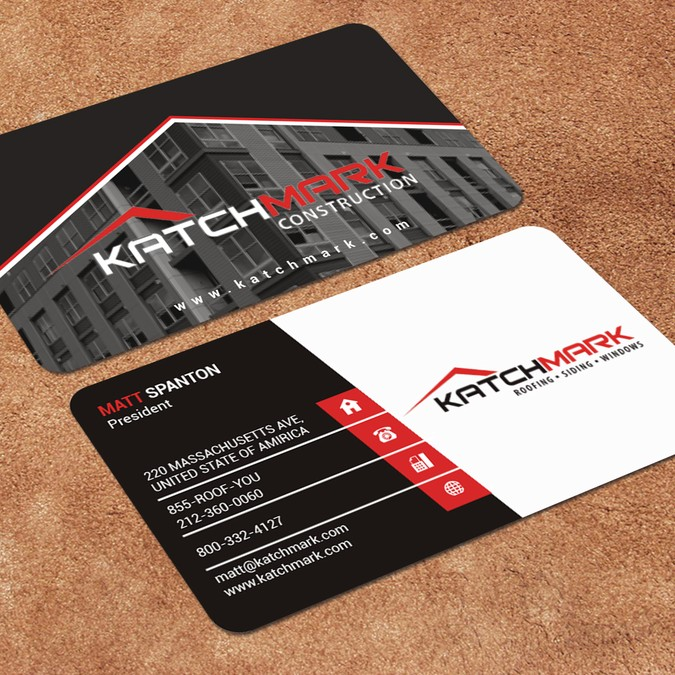 Modern Corporate - construction business cards