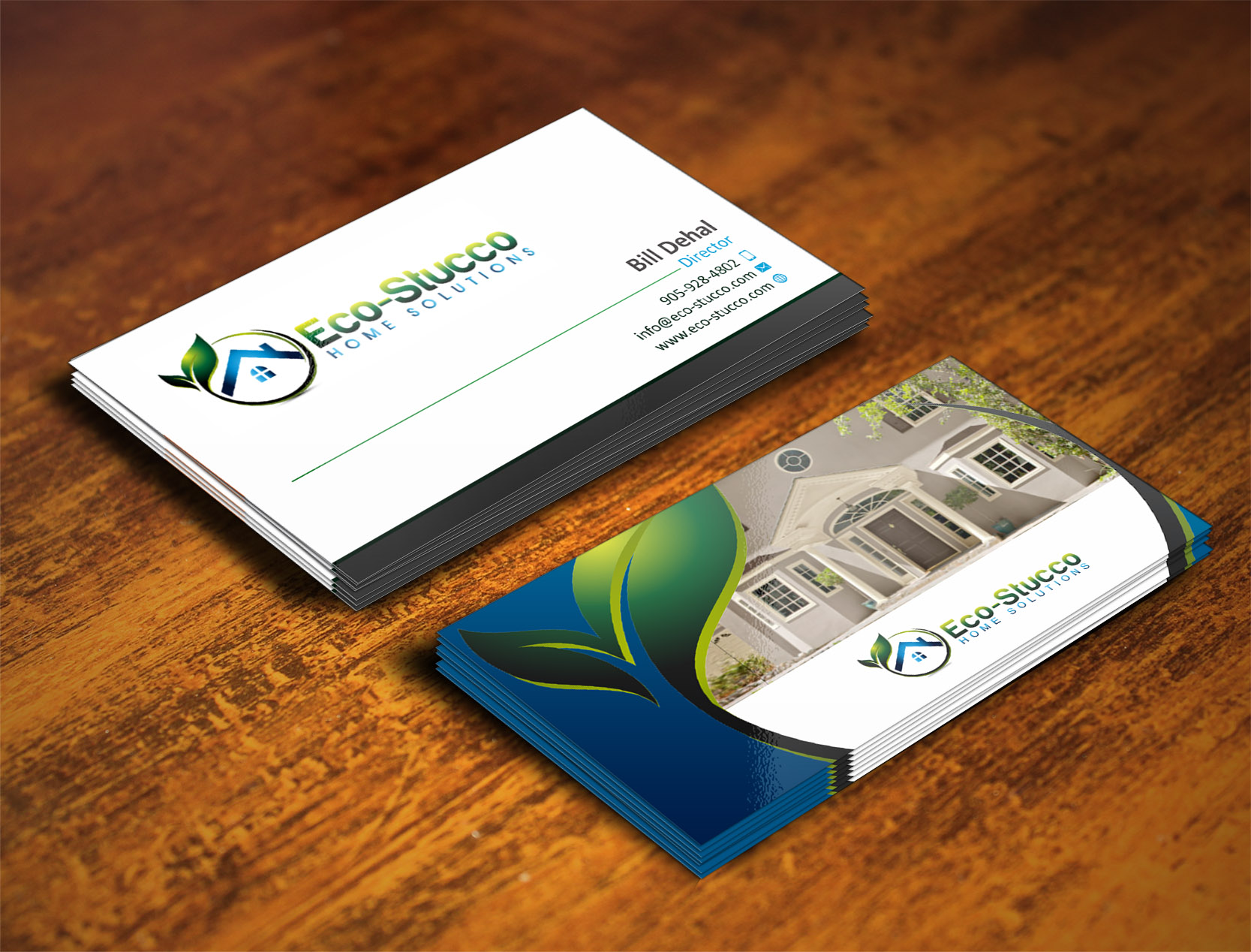 Organic Colors and Lines - construction business cards