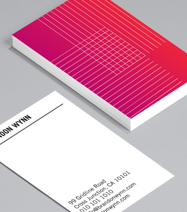 Simple Grid Design - construction business cards