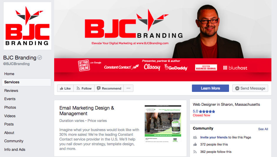 BJC Branding - facebook page template