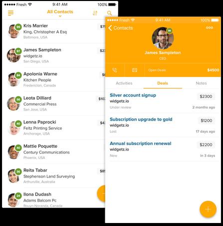 Freshsales (Customer Relationship Management) - real estate agency software