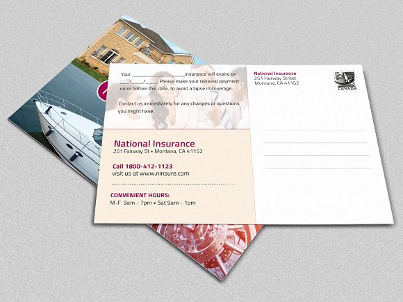 Insurance Postcard Template - Postcard Template