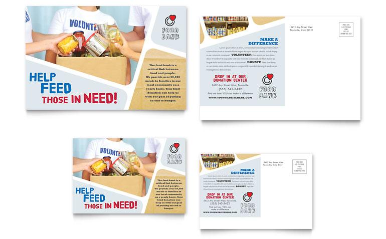 Fundraising Postcard Templates - Postcard Template