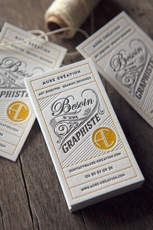 Vintage Inspired - graphic designer business cards