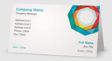 Colorful Logo - graphic designer business cards