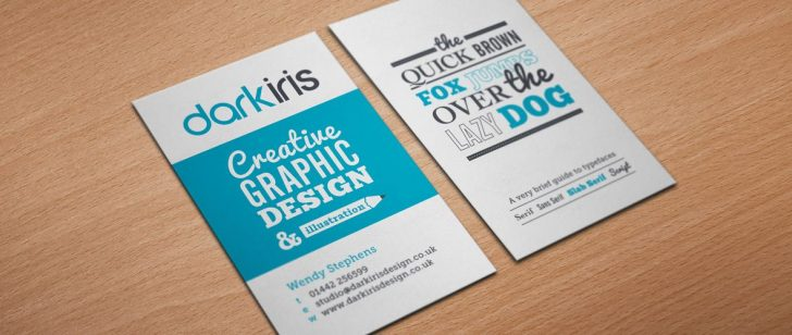 Playful Fonts and Colors - graphic designer business cards