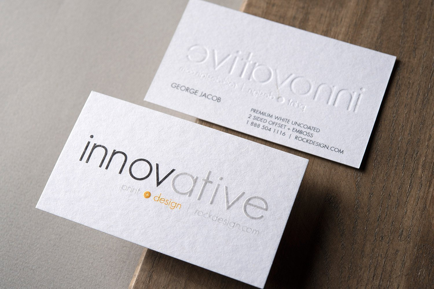 Embossed - graphic designer business cards