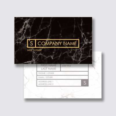 Dramatic with Spot UV - graphic designer business cards