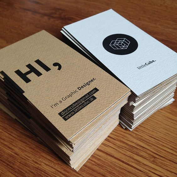 Conversational - graphic designer business cards