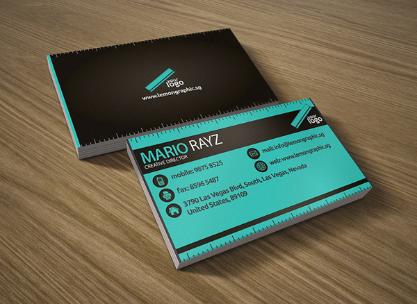 Interactive - graphic designer business cards