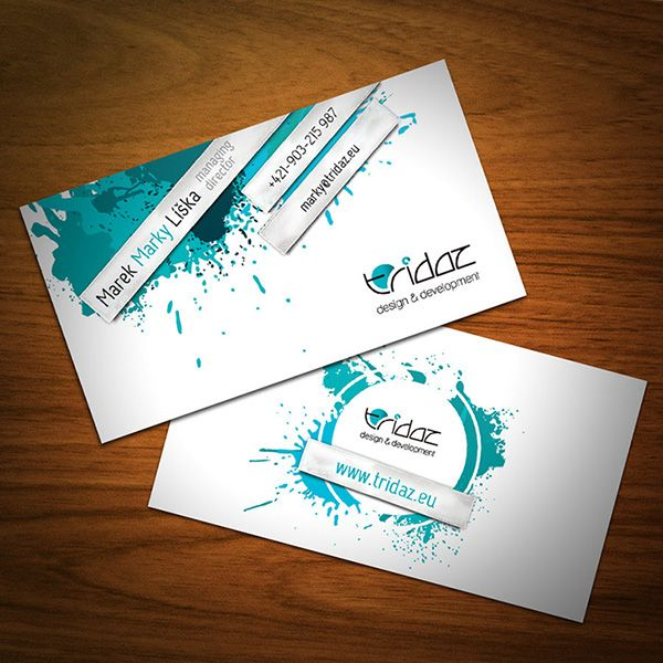 Splash of Color - graphic designer business cards