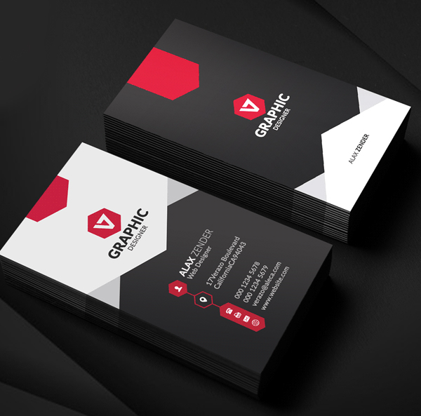 Modern Corporate - graphic designer business cards