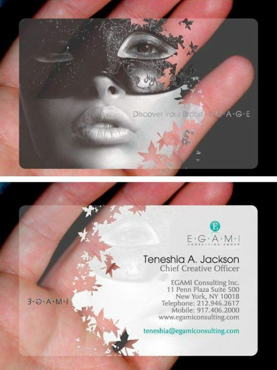 Frosted Plastic Print - graphic designer business cards