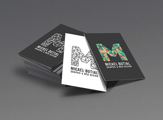 Simple Intrigue - graphic designer business cards