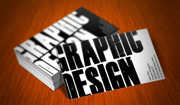 Grunge Effect - graphic designer business cards