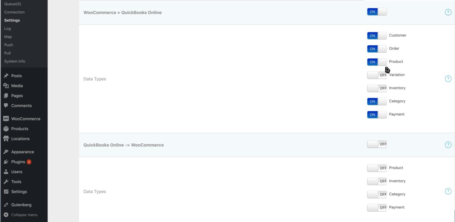 WooCommerce QuickBooks integration -- Setting up MyWorks