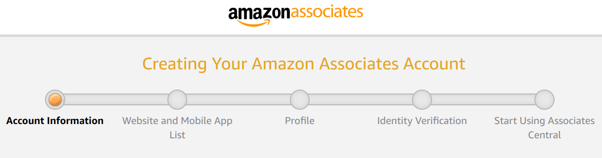 Amazon affiliate program -- get started