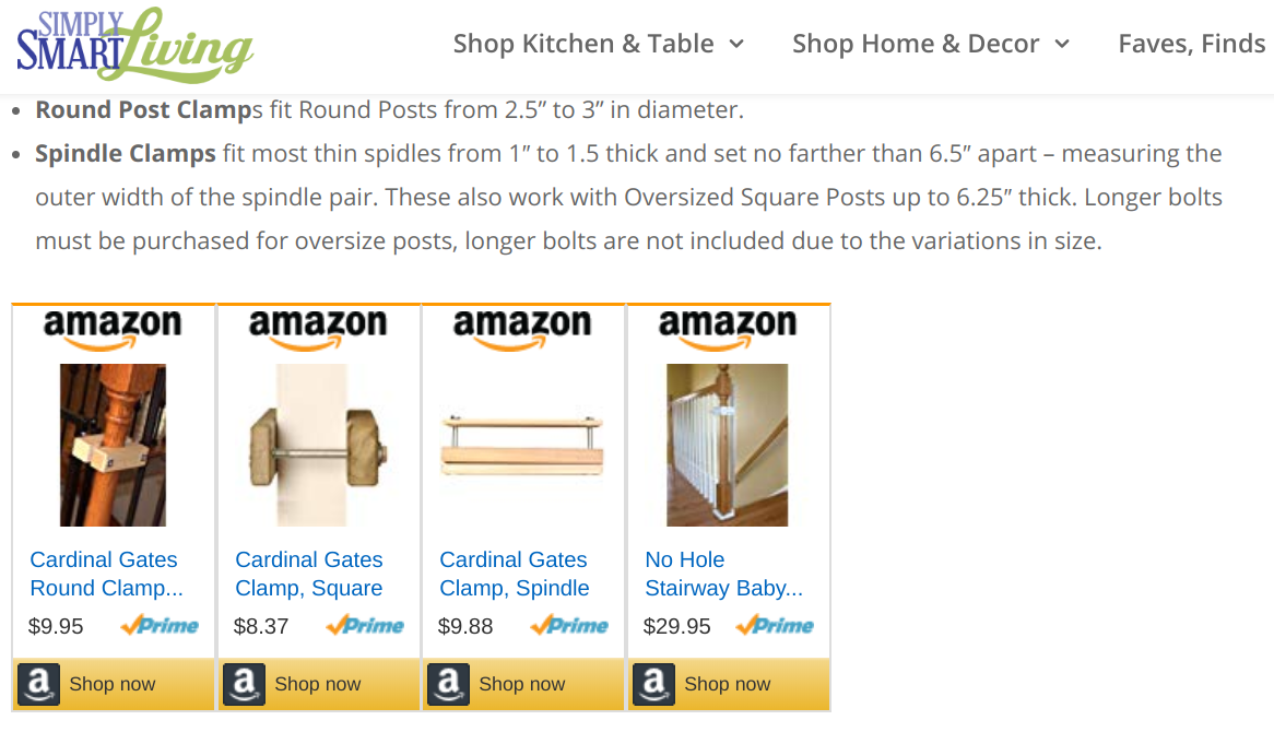 Amazon affiliate program -- product listing ads