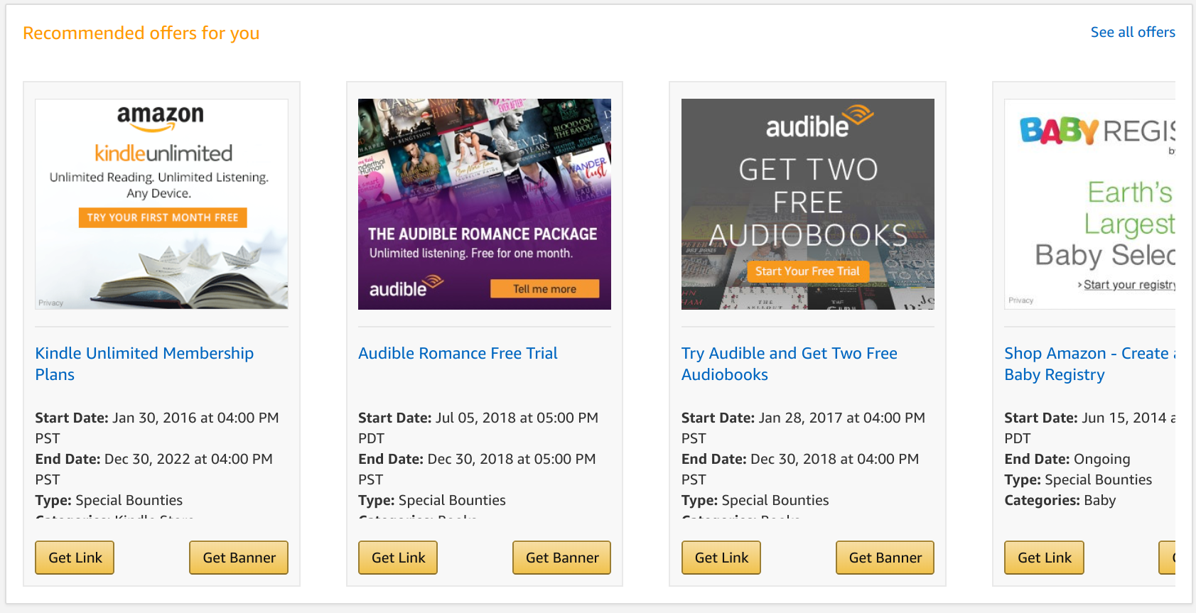 Amazon affiliate program -- banner ad setup