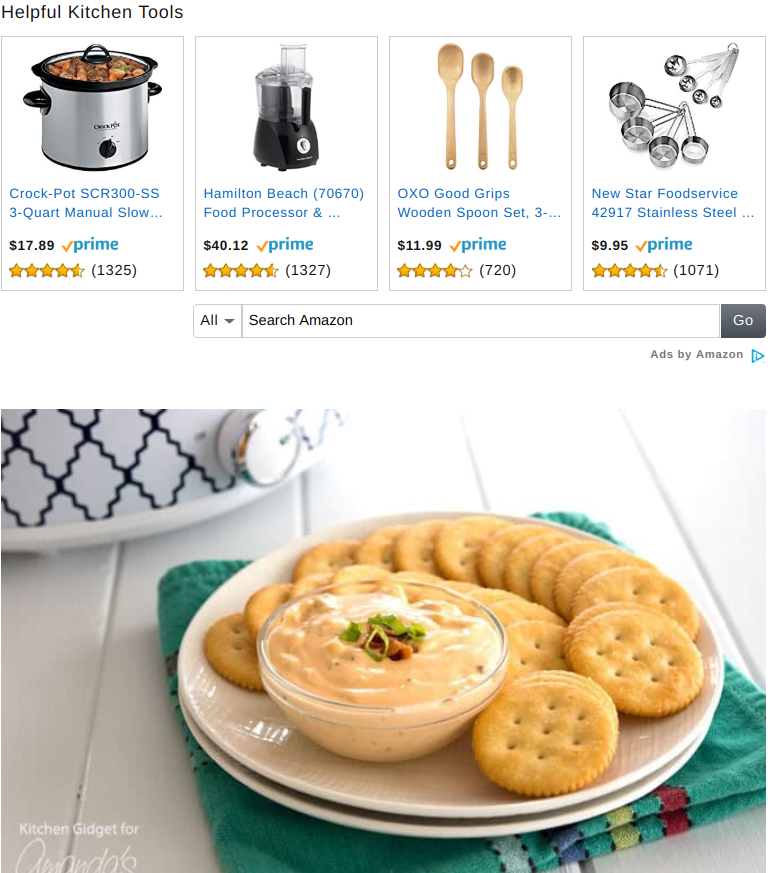 Amazon affiliate program -- native ads for product recommendations