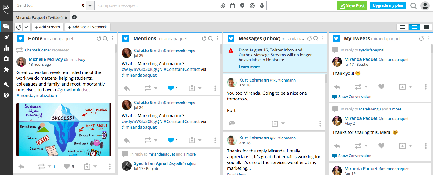 Hootsuite Monitoring Platform - social media management