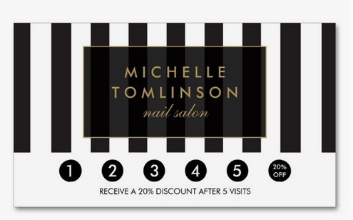 punch card template