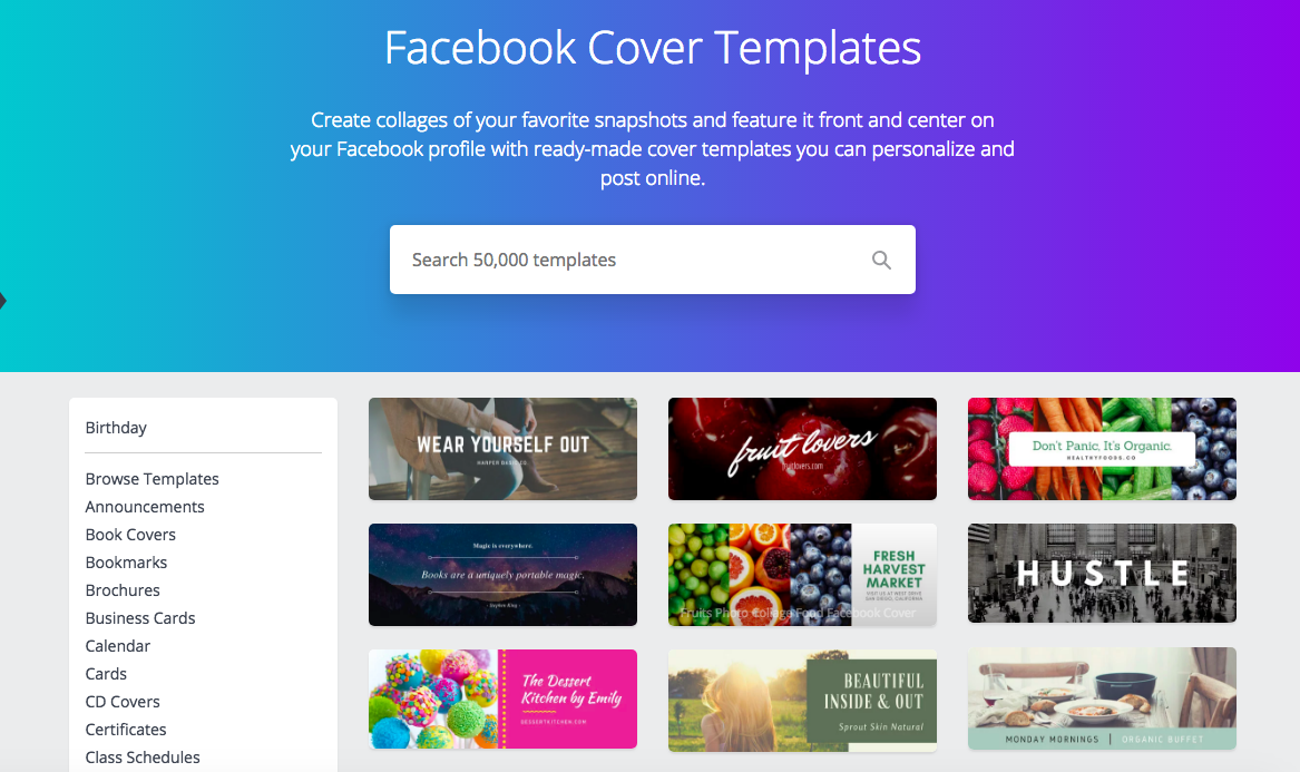 Canva - facebook tools